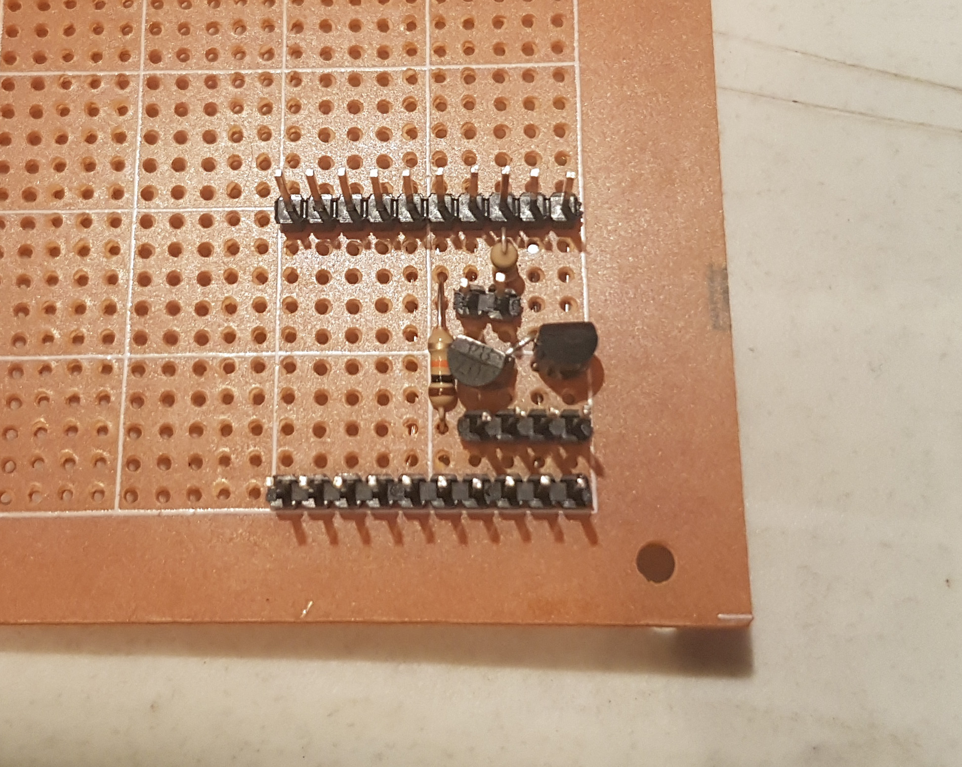 The finished breadboard